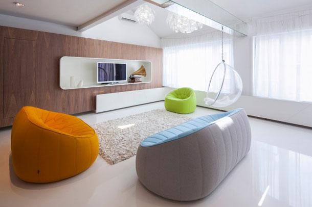 طراحی داخلی مدرن فضای مسکونی در مجارستان