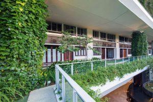ستون های سبز در ساختمان Jardin / سنگاپور
