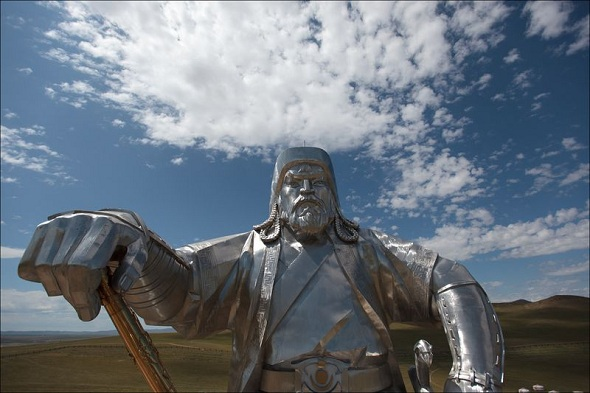 Giant statue of Genghis Khan