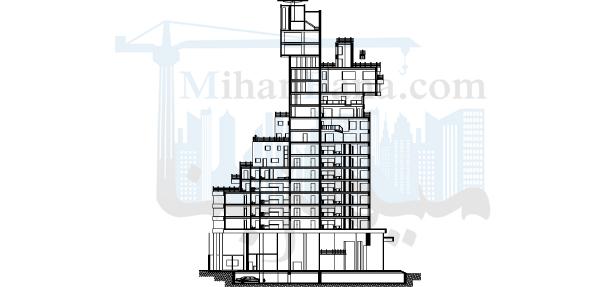 دانلود پلان 17 طبقه مسکونی،تجاری