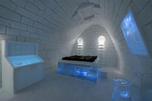 آرامشی تکرار نشدنی در هتل یخی / سوئد