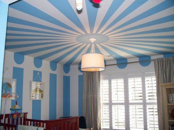 13-Circus-Tent-Painted-Nursery-sun-Burst