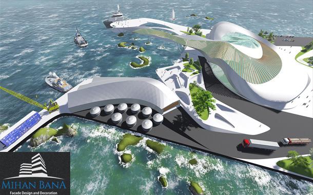 رساله معماری پایانه دریایی