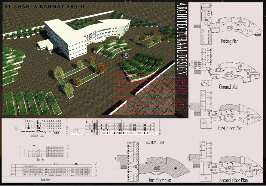 دانلود پروژه کامل نقشه هتل همراه با فایل اتوکد سه بعدی و رندرها
