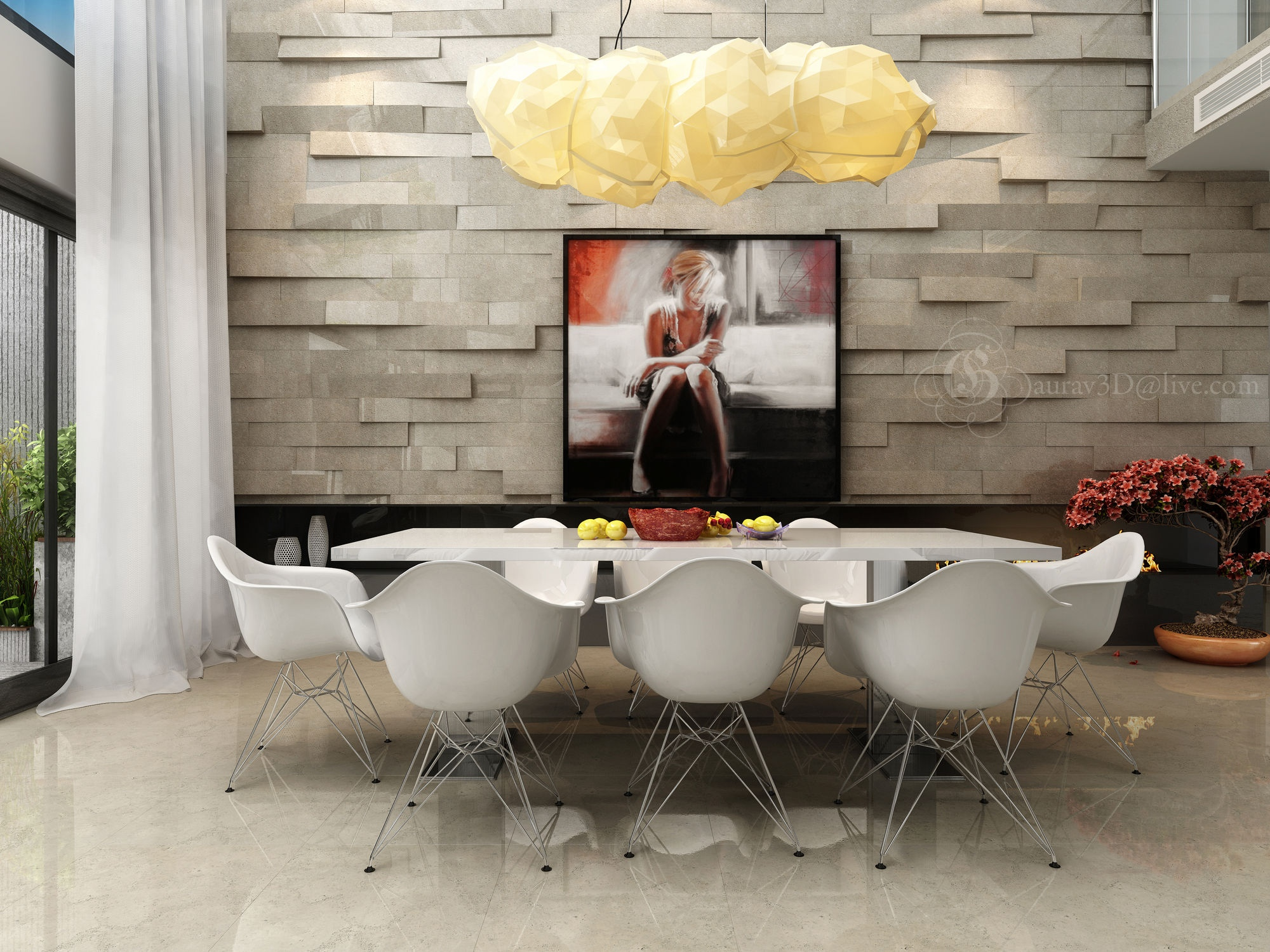 8-Modern-white-dining-suite