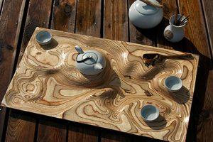 خلاقیت درسینی چای باطراحی منحصربه فرد