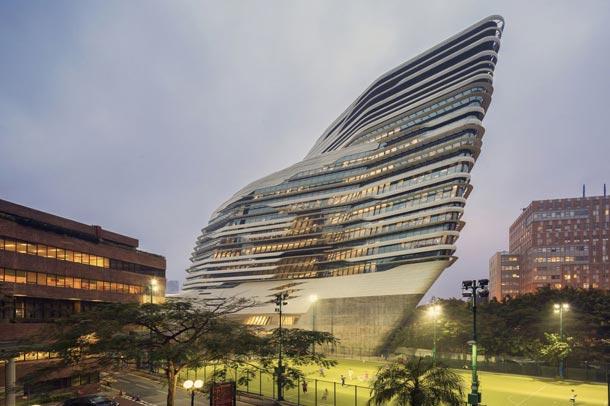 دانشگاه پلی تکنیک هنگ کنگ ; طرحی هنرمندانه از گروه زاها حدید