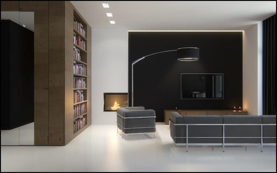 Black-brown-white-sophisticated-living-room