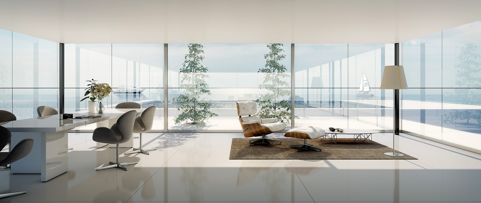 Chic-white-living-area