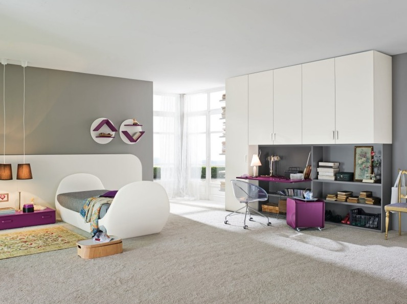 Purple-white-kids-bedroom