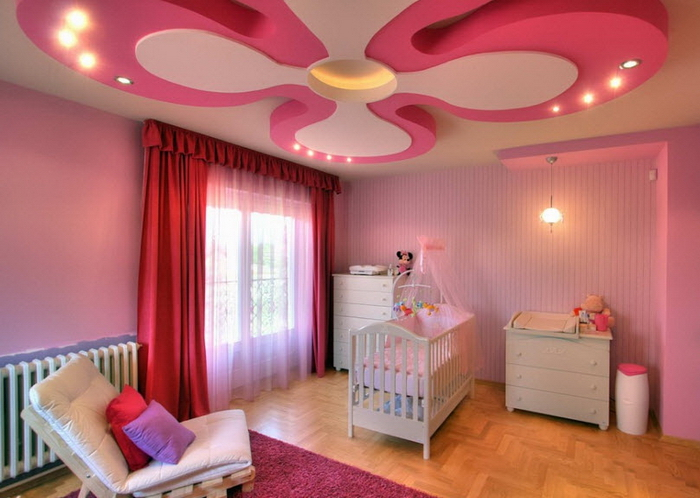 pink-color-ceiling-design