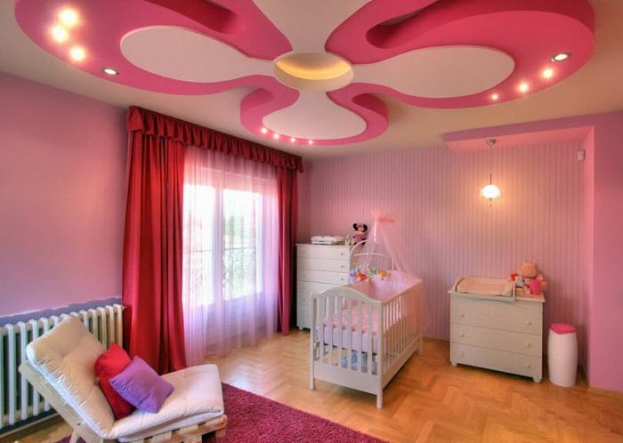 pink-color-ceiling-design