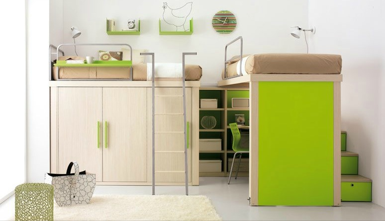 shared-kids-room-in-lime-and-white