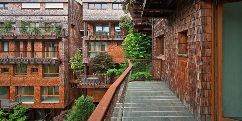 """طراحی درخت ساده معماری سبز ایده ای برای طراحی مجموعه مسکونی """"25Green ..."""