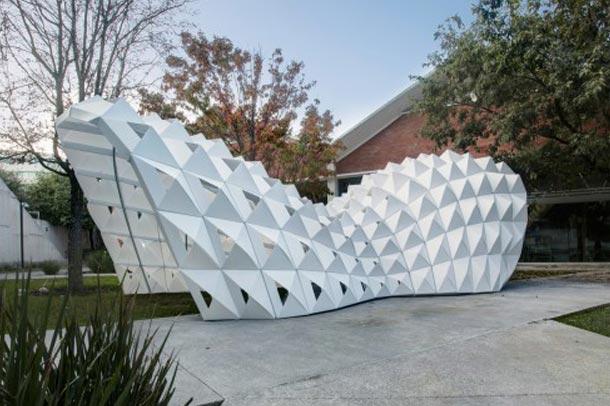 طراحی خلاقانه غرفه توسط  دانشجوی مقطع کارشناسی درمکزیک