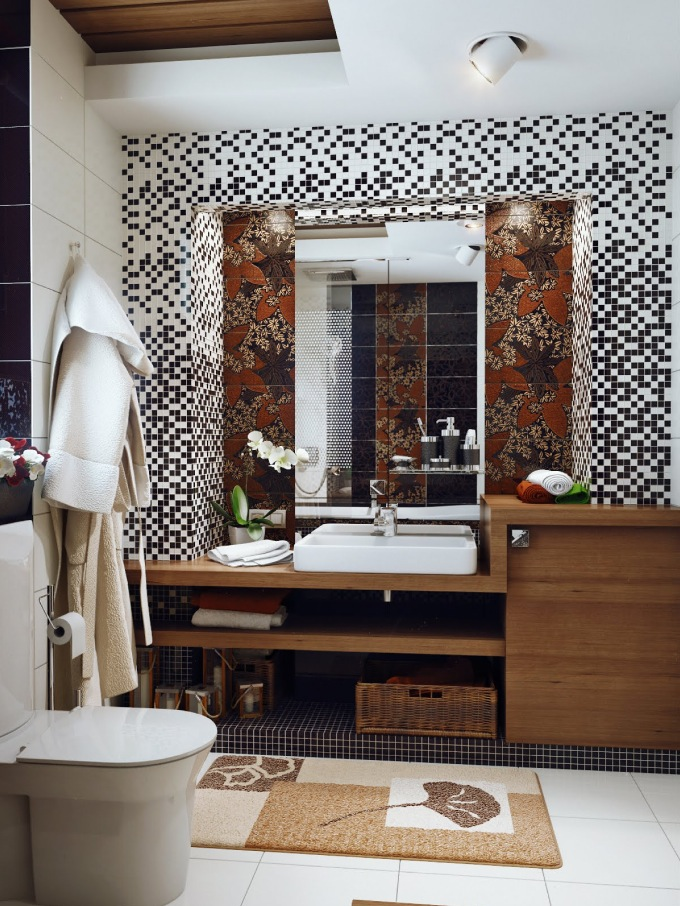 Black-white-brown-bathroom-design