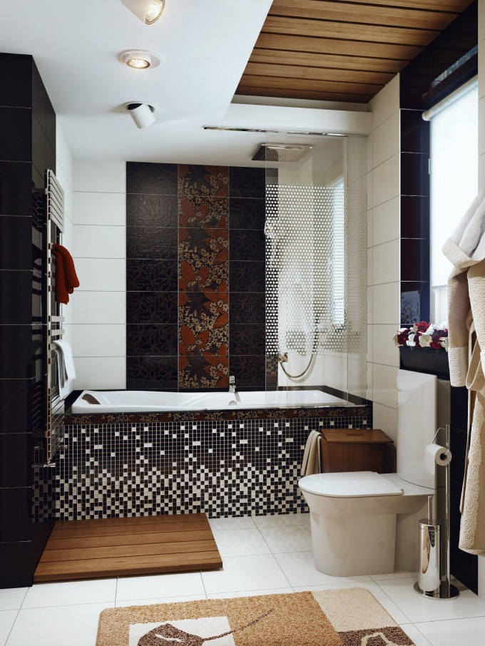 Black-white-brown-bathroom