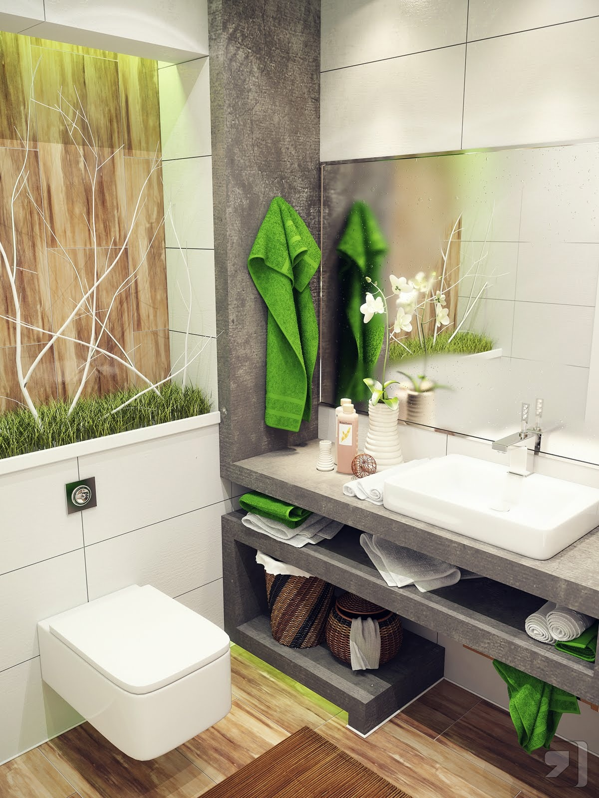 Green-white-nature-design-bathroom