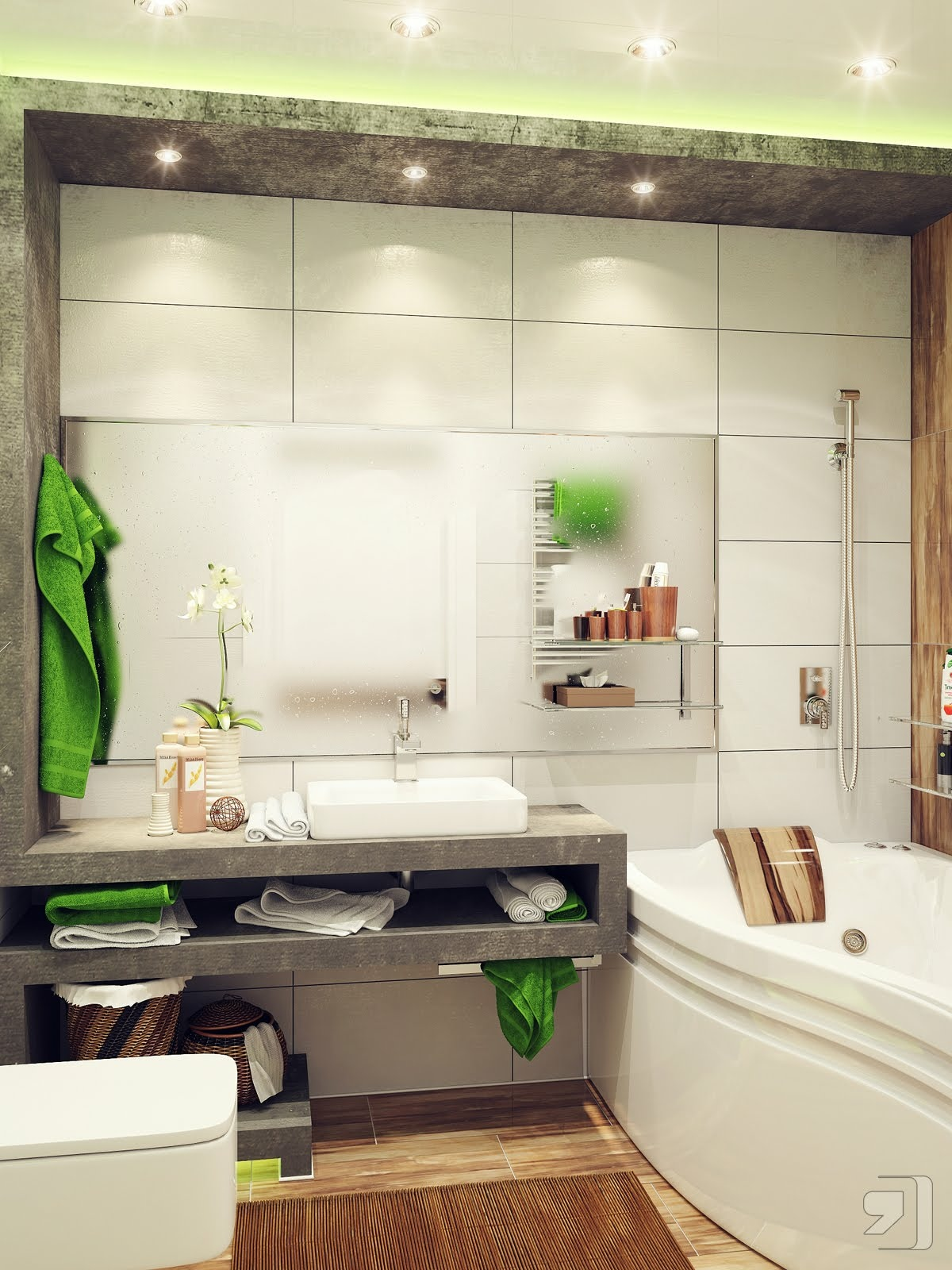 Green-white-small-bathroom-ideas