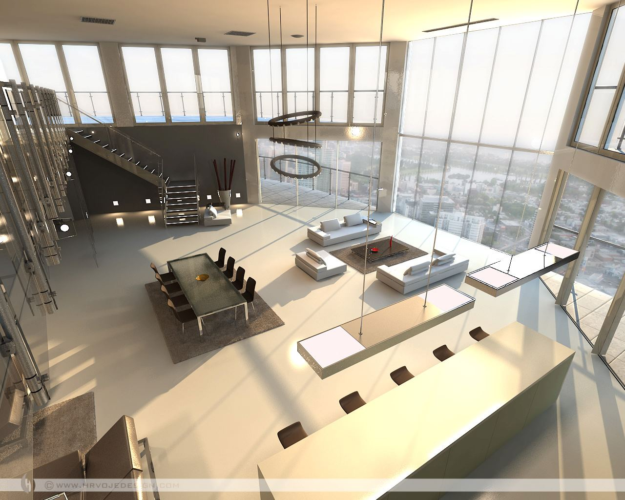 Open-plan-penthouse-design-layout