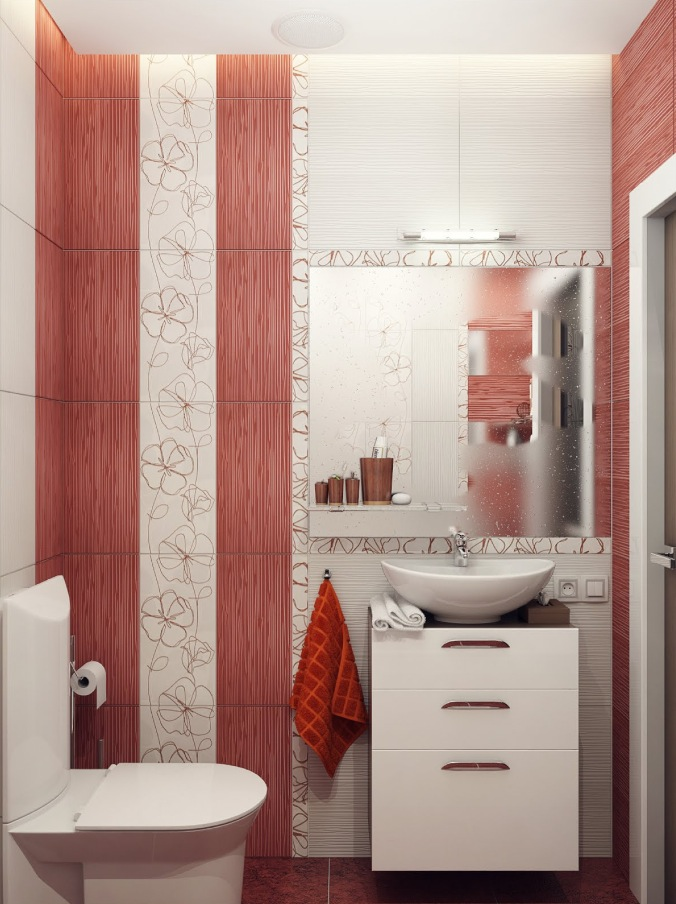 Red-white-bathroom-decor