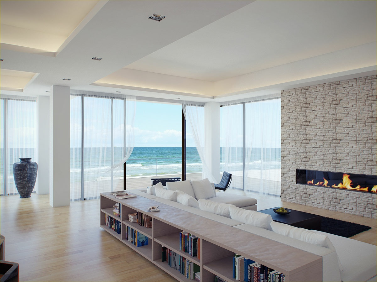 White-living-room-stone-fireplace