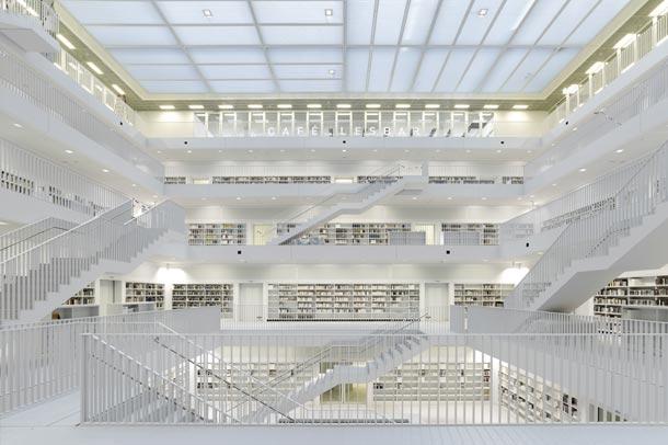 طراحی منحصربه فرد کتابخانه اشتوتگارت