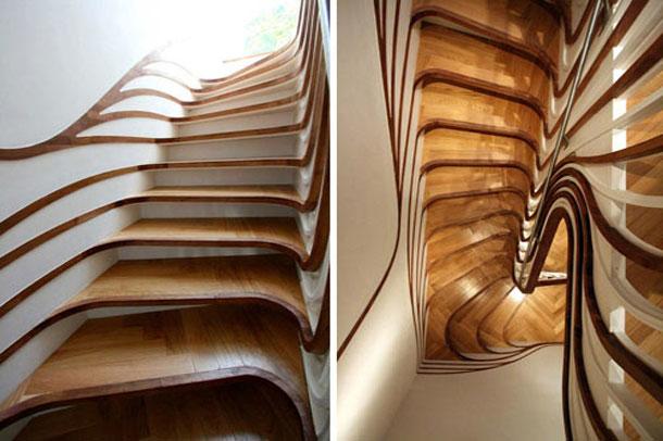 20 ایده برای طراحی مدرن پله