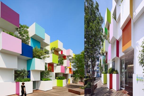 طراحی خلاقانه نمای بانک در توکیو
