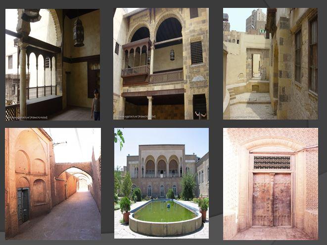 دانلود پاورپوینت مقایسه خانه های ایران با خانه های مصر