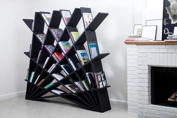 طراحی هنرمندانه قفسه کتاب توسط بانوی ایرانی در هفته طراحی میلان