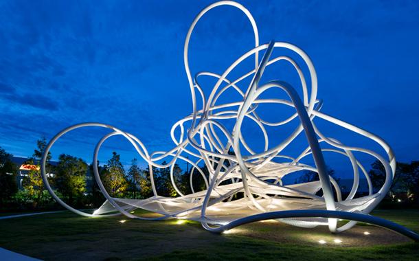 جنگل حلقه ها ، زمین بازی تندیس مانند کودکان اثر تیم معماری Suppose