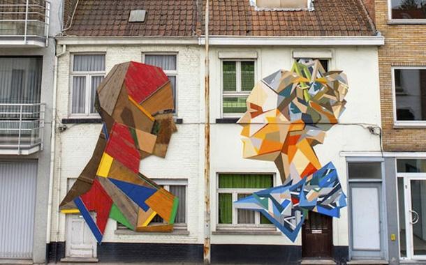 خلق آثار زیبا بر نمای ساختمانها توسط هنرمند بلژیکی!