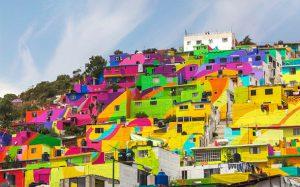 محله فقیر نشین، یک اثر هنری در مکزیک