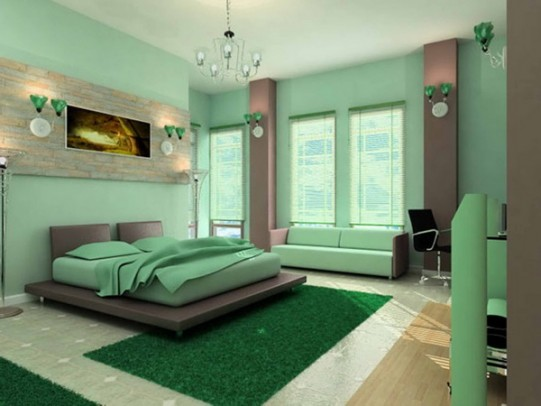Elegant-Master-Bedroom-in-Green-Color-Unique-Colors-and-Textures-for-Bedroom-Design