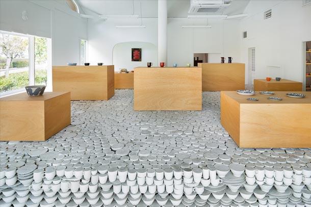 طراحی خلاقانه ی فروشگاه سرامیک در ژاپن