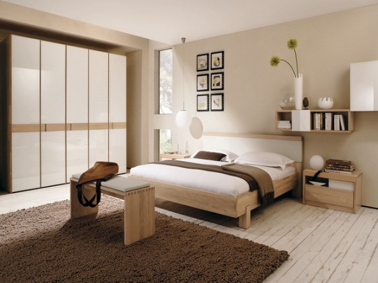Modern-Bedroom-Design-with-Neutral-Plain-Beige-Wall-Modern-Patterns-and-Bedroom-Designs-for-Luxurious-Bedding