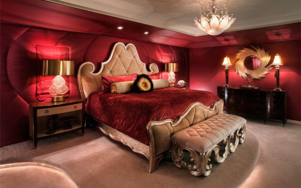 Romantic-deep-red-bedroom-design