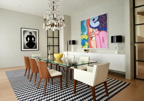 dining-room-carpet-modern-chairs-art