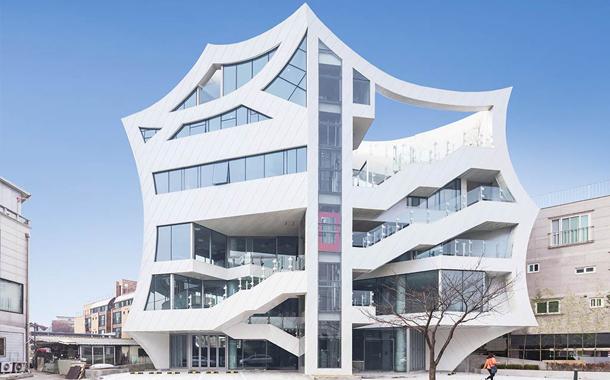 ساختمانی با کانسپت گل در کره جنوبی