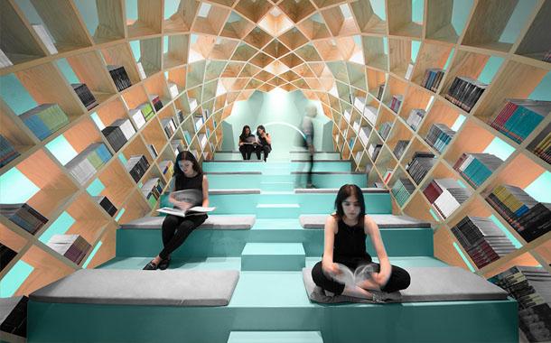 طراحی بی نظیر کتابخانه Conarte در مکزیک!