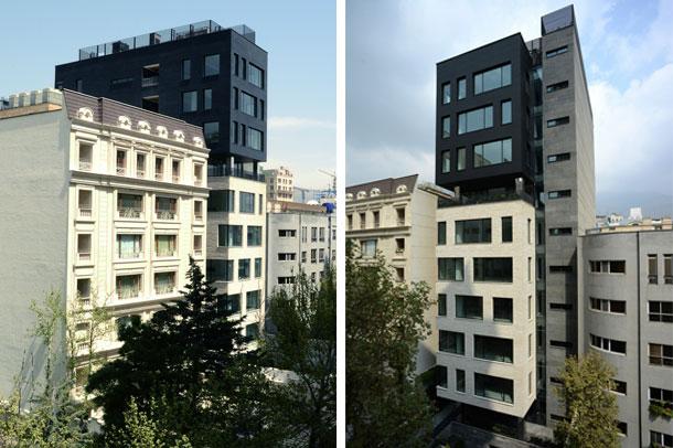 ساختمان مدرن BW7 ; رتبه سوم مسابقه معمار سال 94