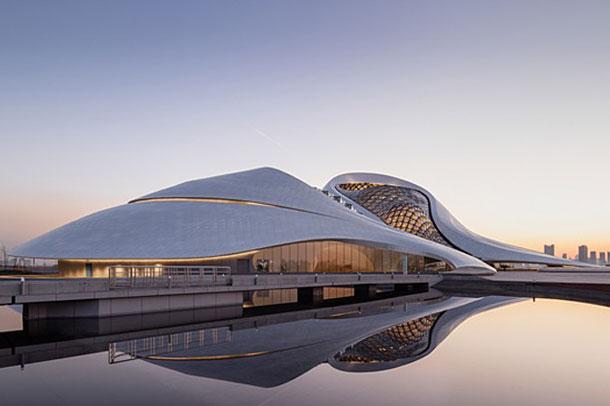طراحی خیره کننده سالن اپرای هاربین در چین