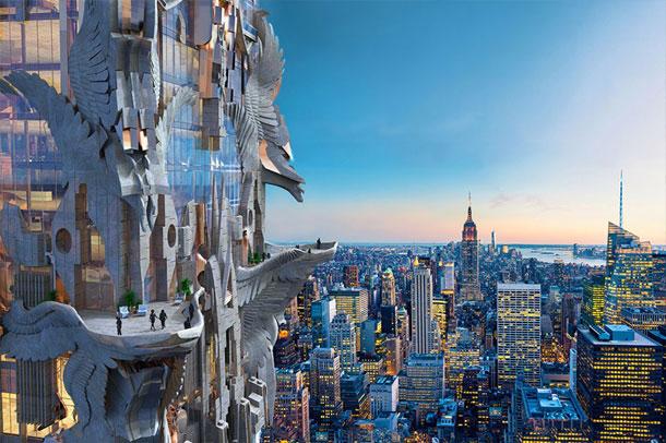 ایده یک سازه تندیس گونه در مرکز شهر منهتن / مارک فاستر