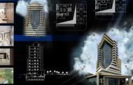 دانلود نقشه کامل برج مسکونی همراه با فایل 3dMax