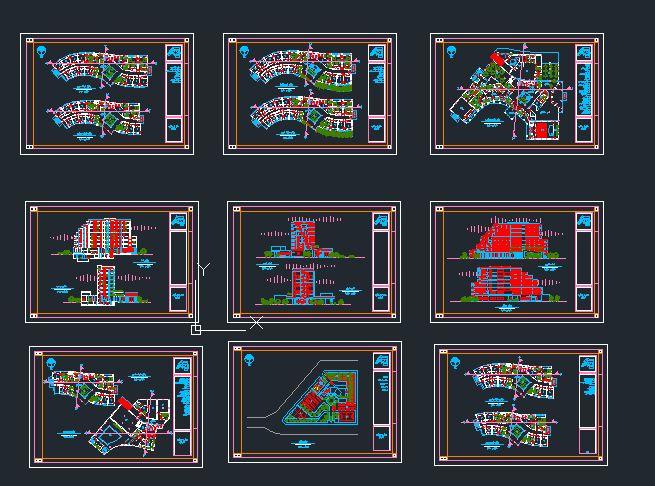 دانلود نقشه اتوکدی کامل هتل