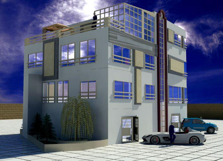 دانلود نقشه کامل ساختمان مسکونی همراه با فایل 3dMax