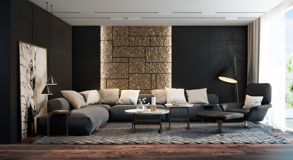 black-living-room-accent-colors