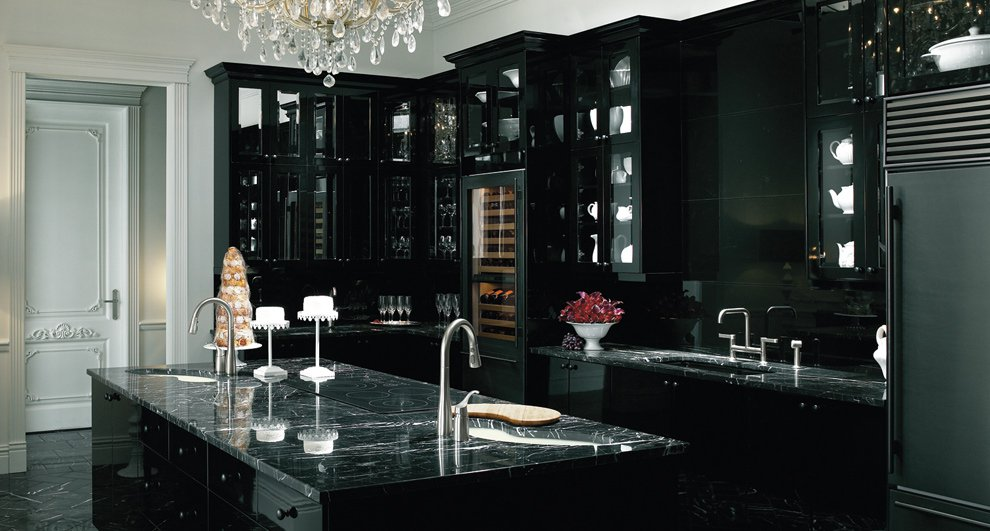 Black-and-Victorian-kitchen