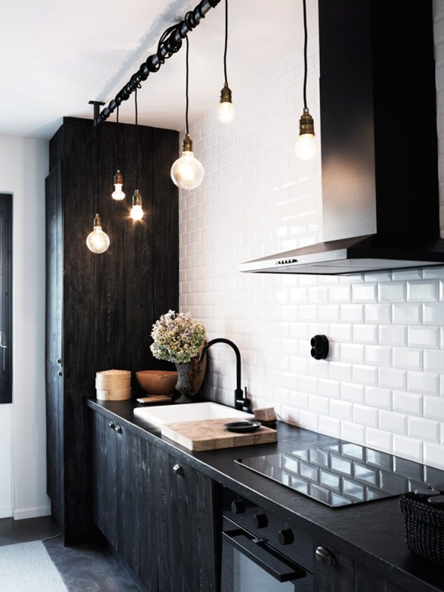 Black-kitchen-cupboards-and-subway-tiles